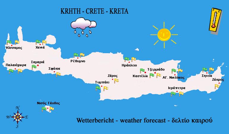 Wettervorhersage Kreta